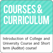 Courses & Curriculum:Introduction of Course to International Contribution College(ICC) and Short term (Auditor) course!