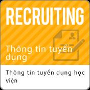 Thông tin tuyển dụng:Thông tin tuyển dụng học viện